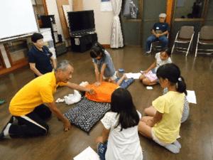 AEDの扱いと練習