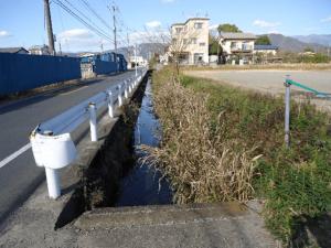 西大井排水路工事 改修前