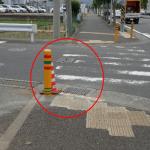 県道711号線 NEC入り口付近 側溝の縁石(改修後)
